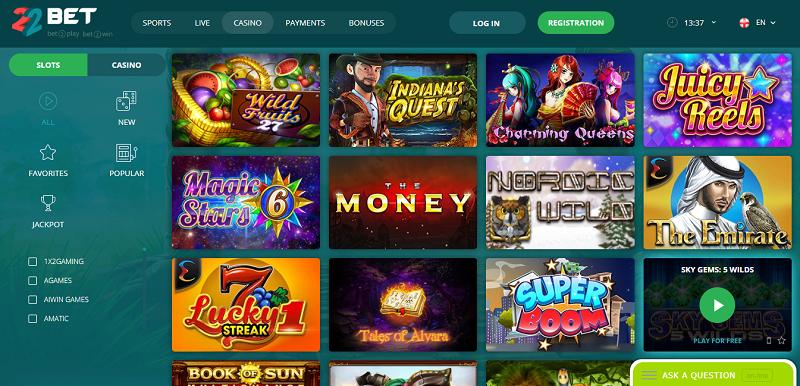 22bet casino
